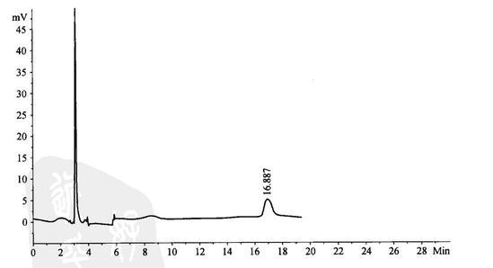 芍药苷的高效液相色谱测定法