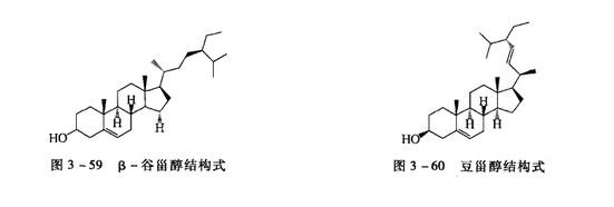β-豆甾醇和豆甾醇结构式