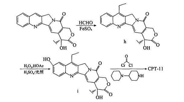 CPT-11 的半合成路径